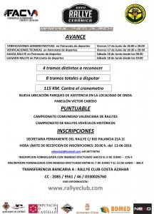 AVANCE RALLYE DE LA CERAMICA